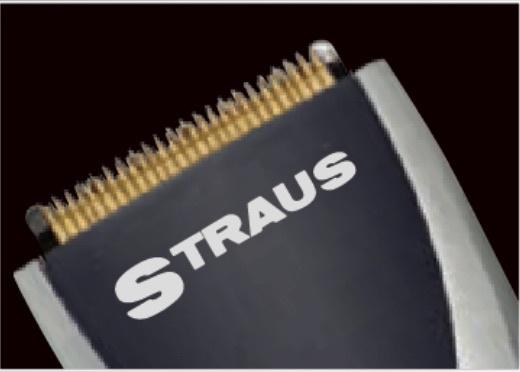 Straus 7-delige Elektrische Tondeuses Antislip Rubberen Handgreep Roestvrijstalen Messen met Titanium Coating