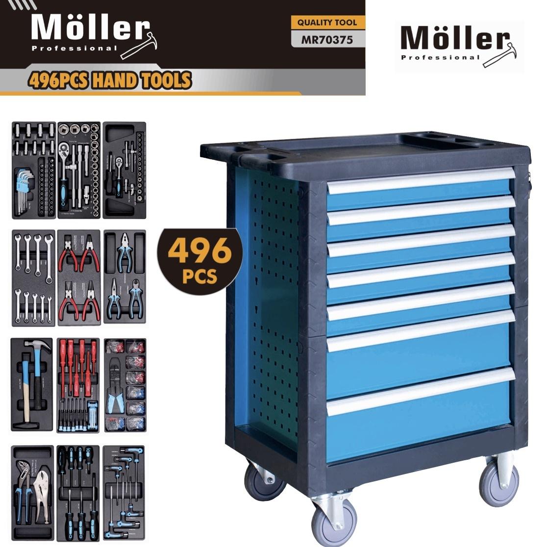 Möller 496-delige Gereedschapswagen met 7 Laden