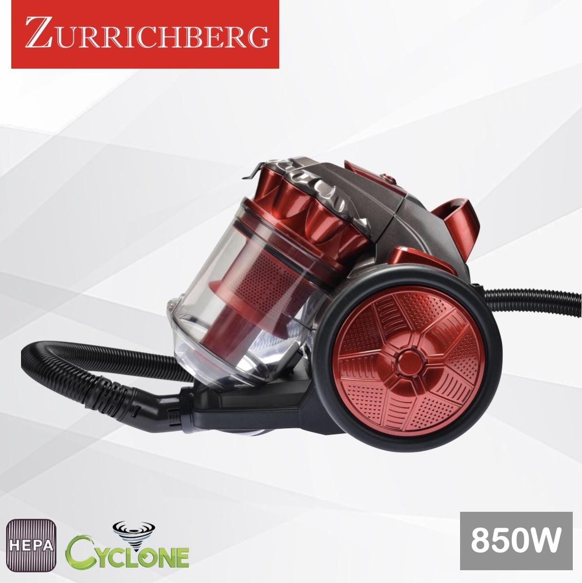 Zurrichberg 850W Cycloon Meertraps Filtersysteem Stofzuiger Zakloos