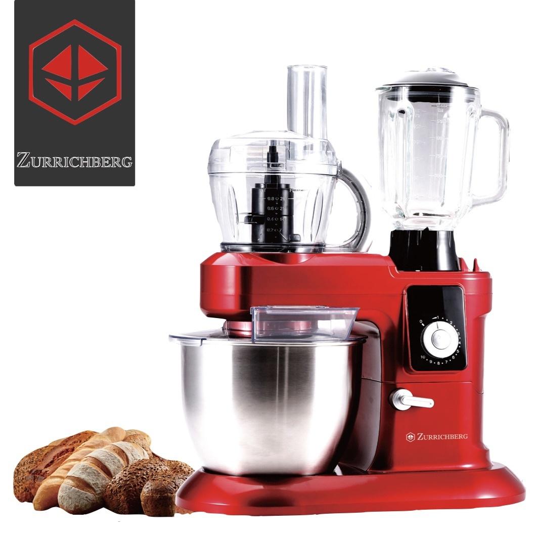Zurrichberg 6.5 liter Keukenmachine + Gehaktmolen + Blender 3-in-1 1200W