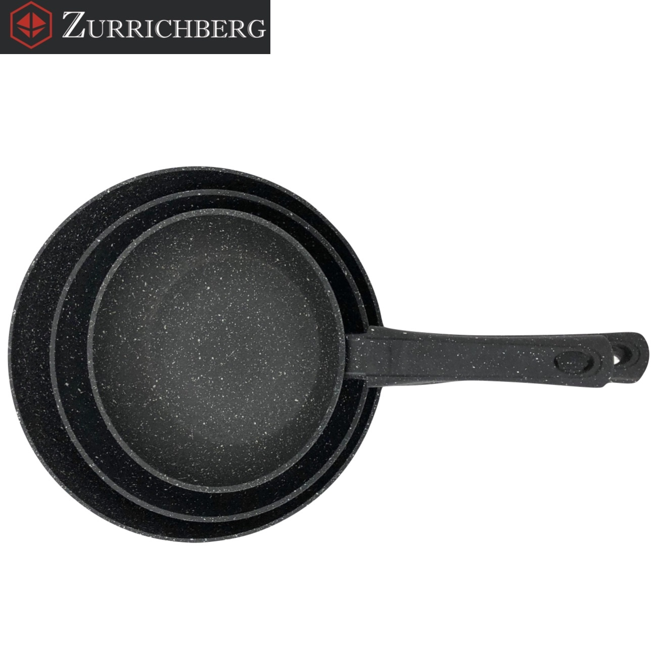 Zurrichberg Koekenpanset 3-delig met Marmer Coating
