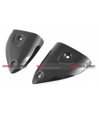 Fullsix Ducati 899/959/1199/1299 carbon uitlaatschildjes Termignoni
