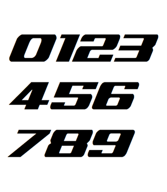 Afix Moto Number decals style 1