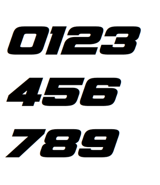Afix Moto Number decals style 4