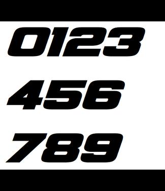 Afix Moto Racing number decals style 4