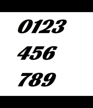Afix Moto Racing number decals style 5
