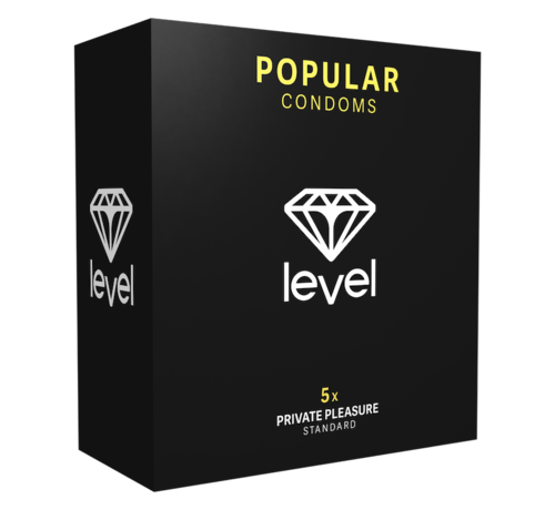 Level Level Popular Condoms  - 5 pack