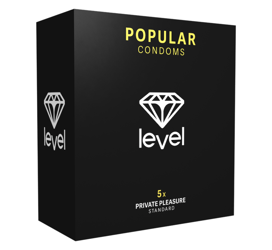 Level Popular Condoms  - 5 pack