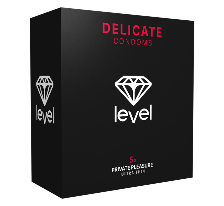 Level Delicate - Condoms - 5 pack | Ultra thin condoms