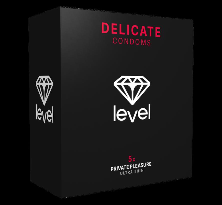 Level Delicate - Kondome - 5 Stück | Ultradünnes Kondom