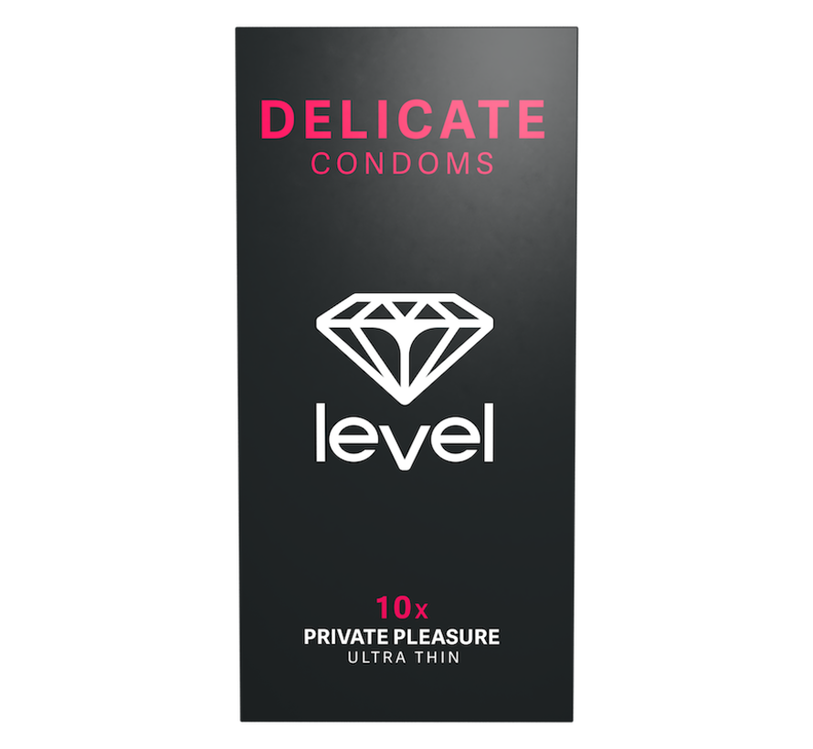 Level Delicate - Condoms - 10 pack | Ultra thin condoms