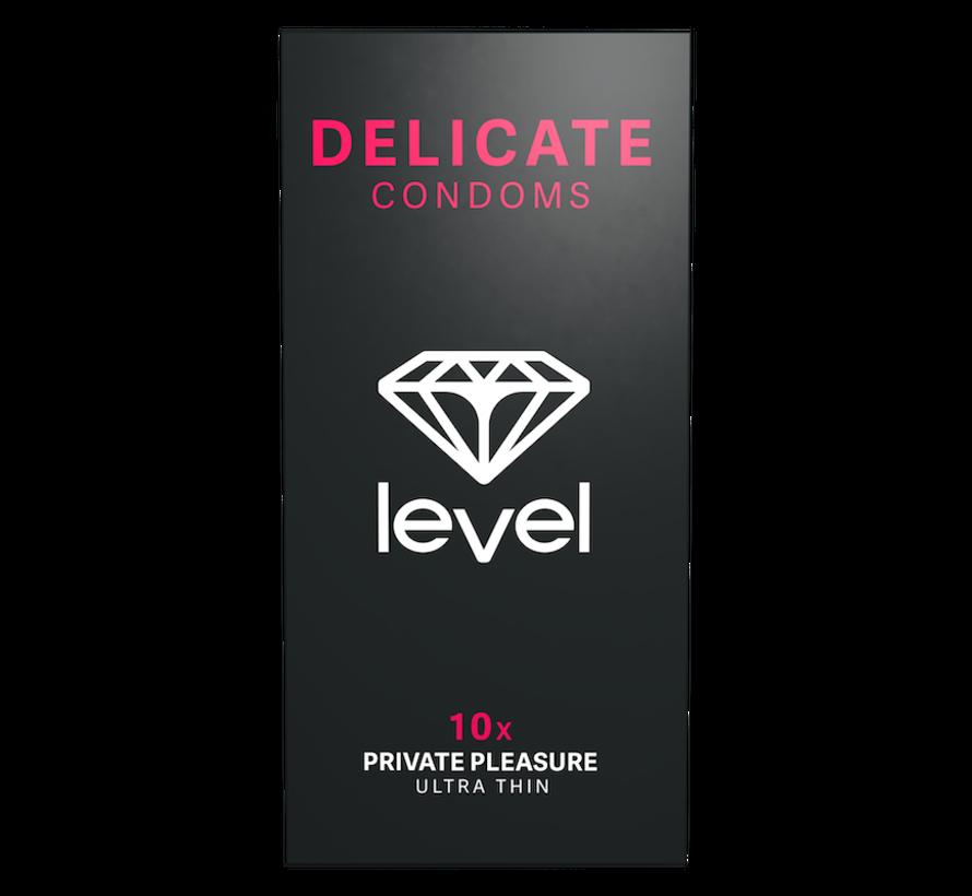 Level Delicate - Kondome - 10 Stück | Superdünne Kondome