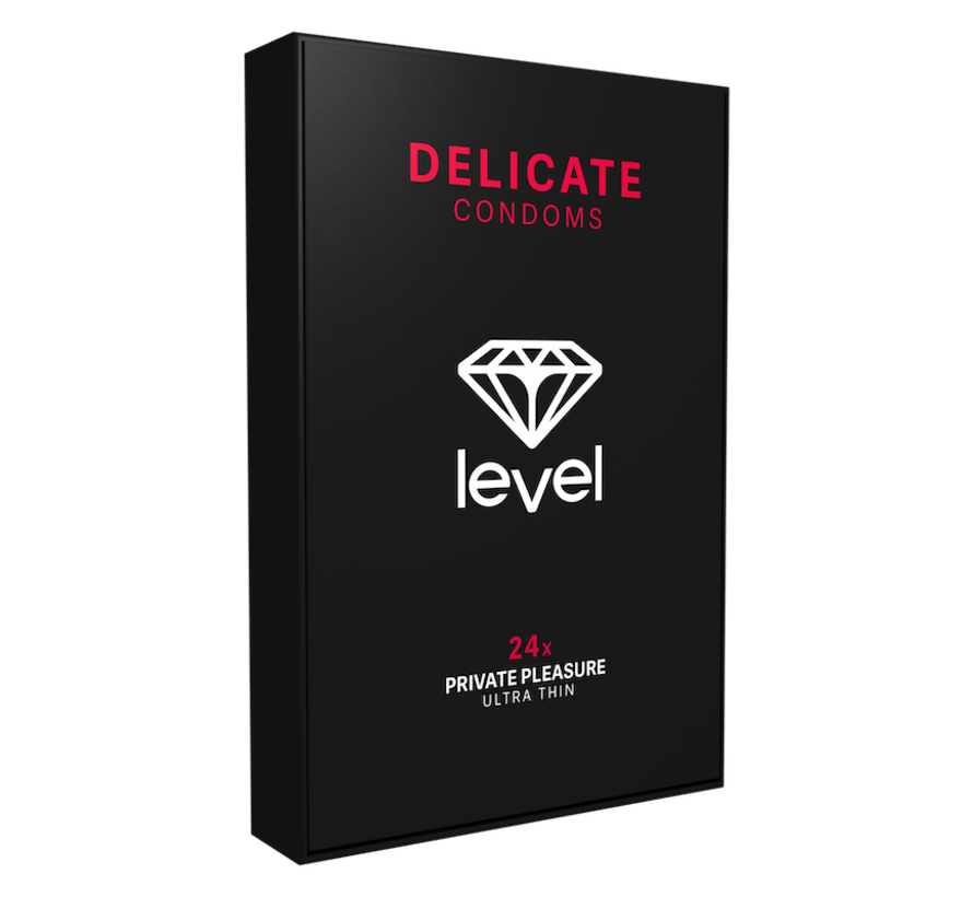 Level Delicate - Condoms - 24 pack | Ultra thin condoms