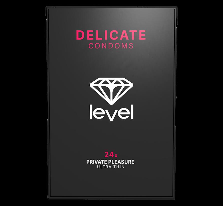 Level Delicate - Kondome - 24 Stück | Ultradünnes Kondom