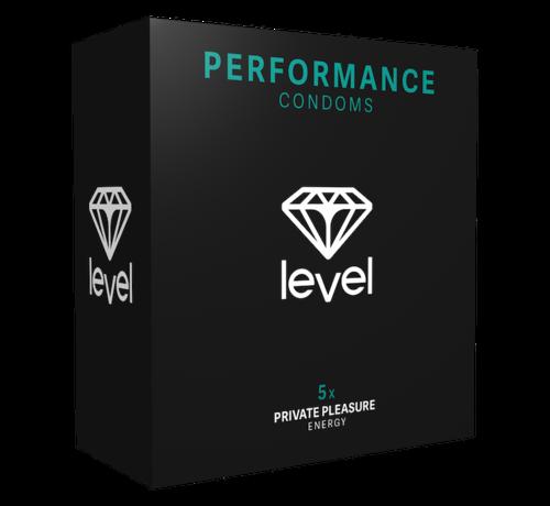 Level Level Performance - Kondome - 5 stück | Mehr und länger geniessen