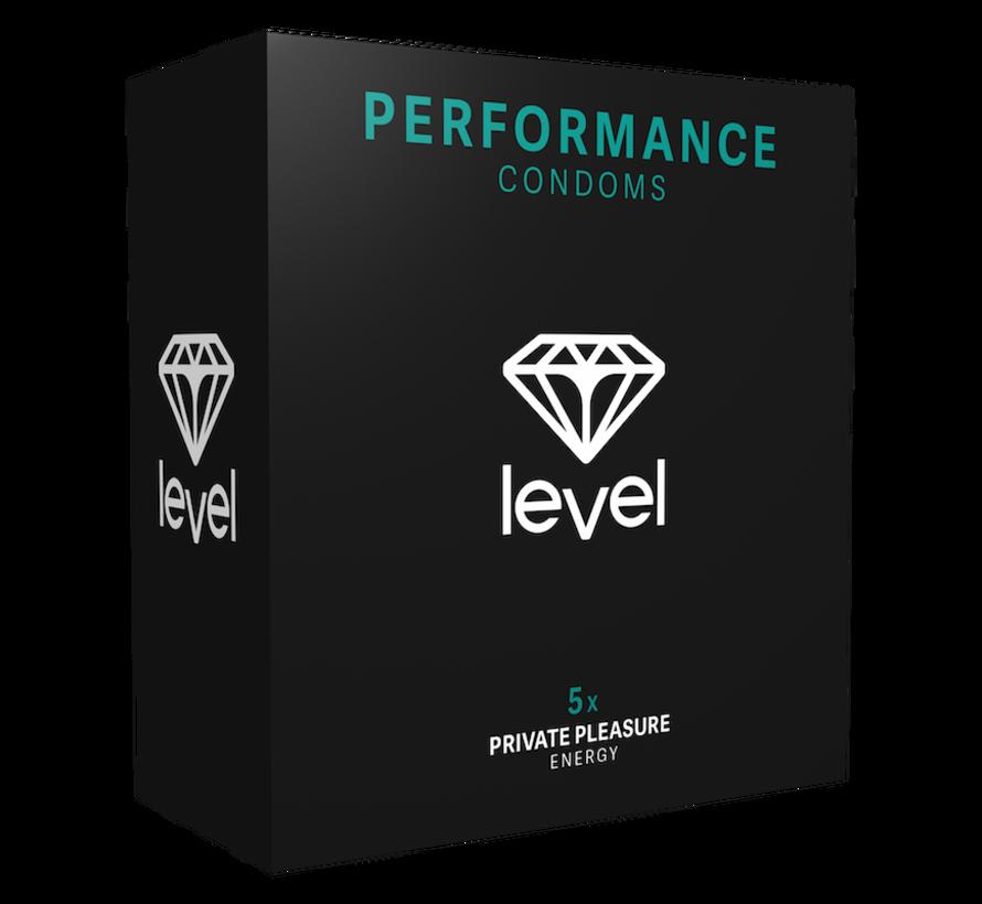 Level Performance - Kondome - 5 stück | Mehr und länger geniessen