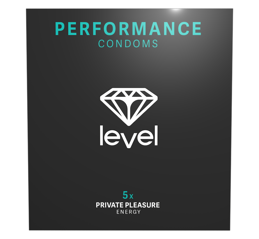 Level Performance - Condoms - 5 pack | Enjoy more and for longer