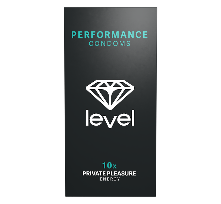 Level Performance Condoms - 10 pack | Designed to delay climax for men.