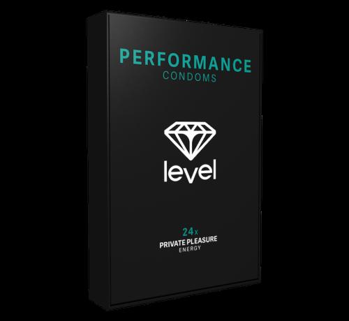 Level Level Performance - Condoms - 24 pack | Enjoy more and for longer.