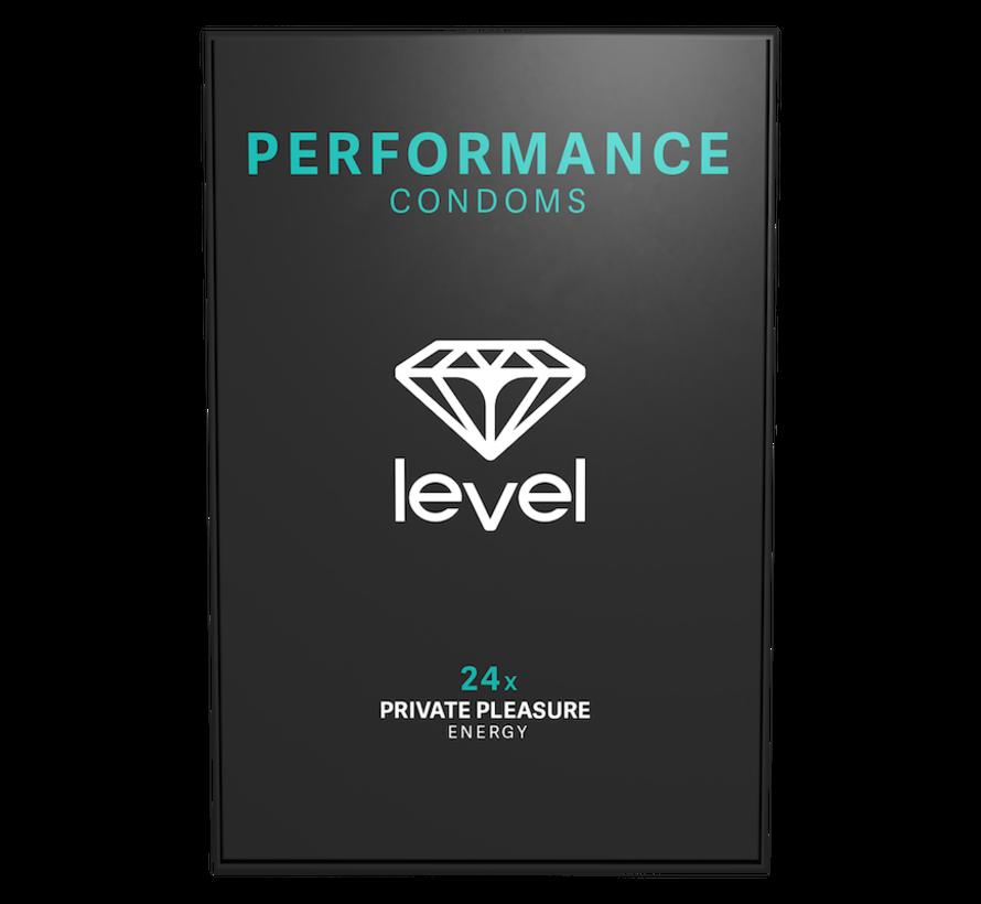 Level Performance - Kondome - 24 stück | Mehr und länger geniessen.