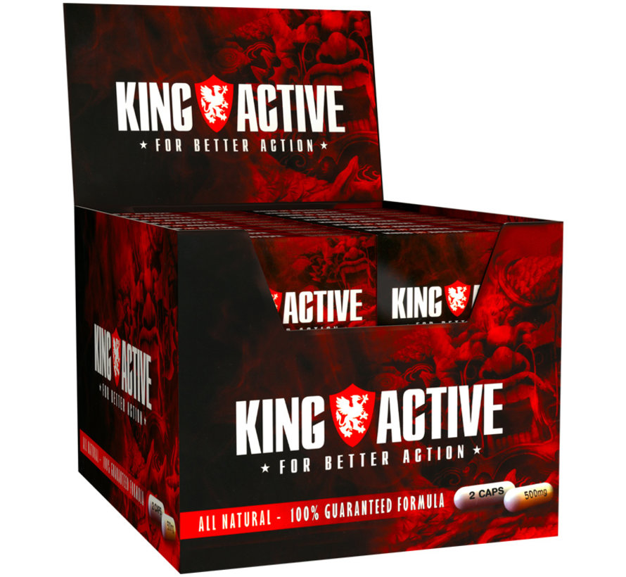 King Active - 80 caps - Natural erection pills