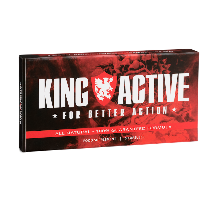 King Active - 5 capsules - Erectie Stimulerend