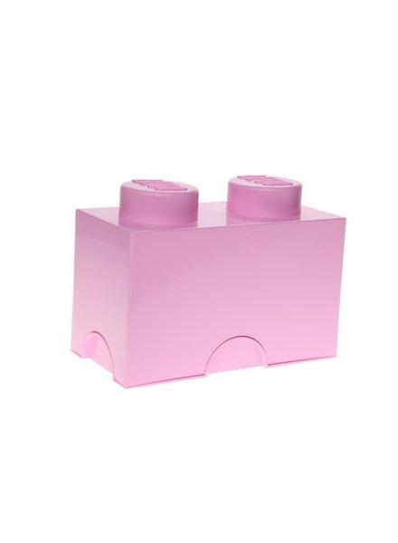LEGO licht roze opslagsteen 12,5 x 25 cm