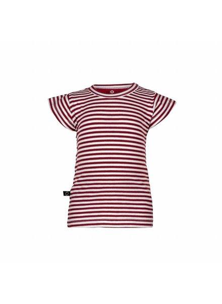 nOeser Ted t-shirt frill stripe red