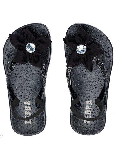 Slippers met hakbandje zwart