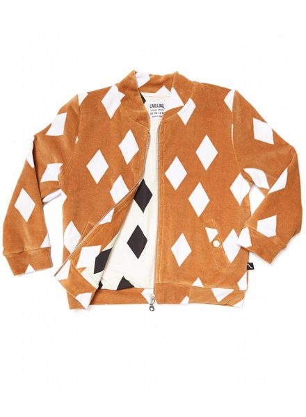 CarlijnQ Diamonds Ochre Bomber Jacket