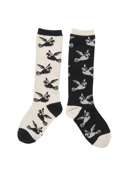 CarlijnQ Love birds knee socks