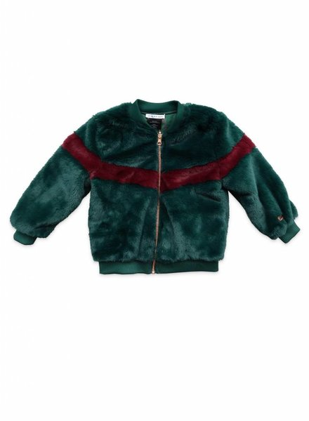 Ammehoela Reversible bomberjacket green