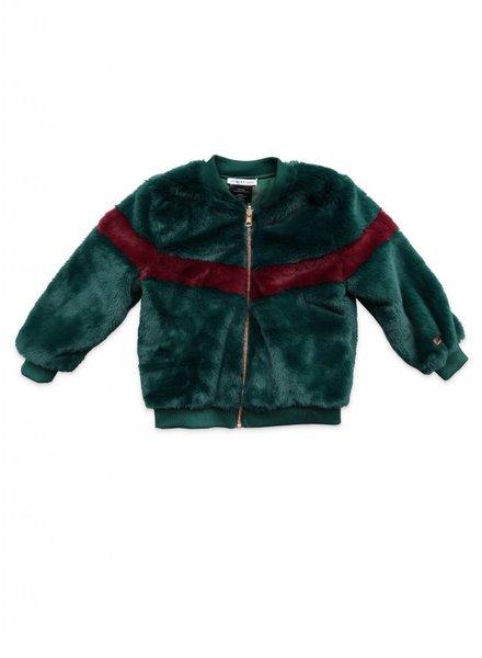 Ammehoela Reversible bomberjacket green