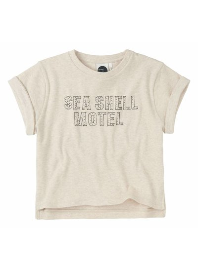 Sproet & Sprout Boxy t-shirt 'Seashell Motel' - shell melee
