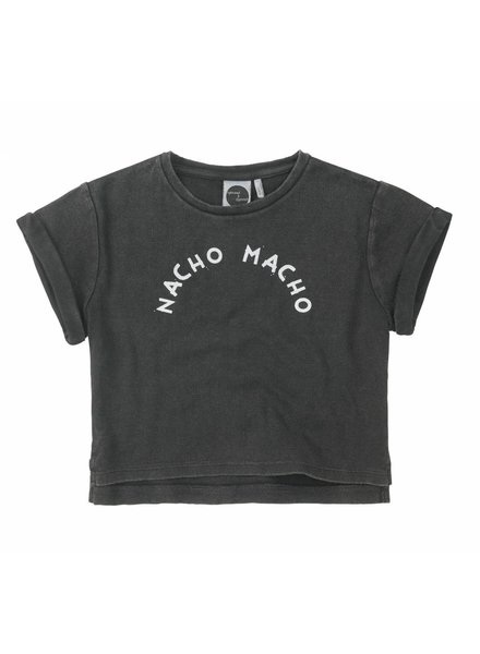 Sproet & Sprout T-shirt 'Nacho Macho' - washed black