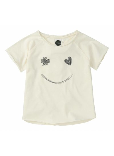 Sproet & Sprout Raglan T-shirt 'Smile' - summer white