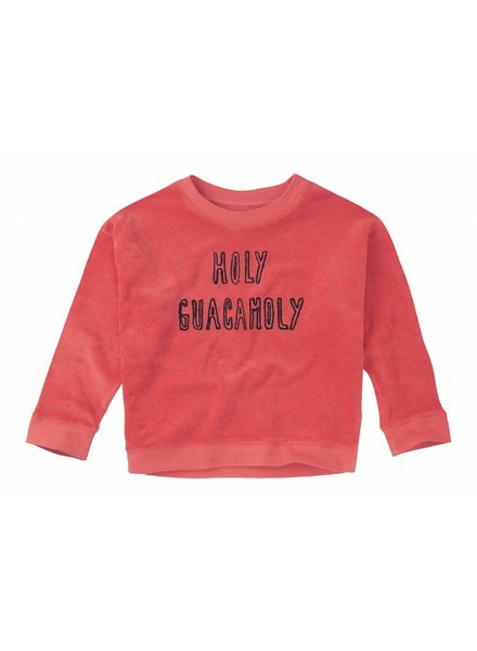 Sproet & Sprout Sweater 'Holy Guacamoly' - red pepper