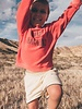 Sproet & Sprout Boxy sweater 'Holy Guacamoly' - red pepper