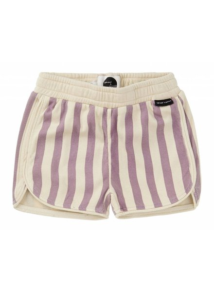 Sproet & Sprout Short 'Stripe' - shell & dusty violet