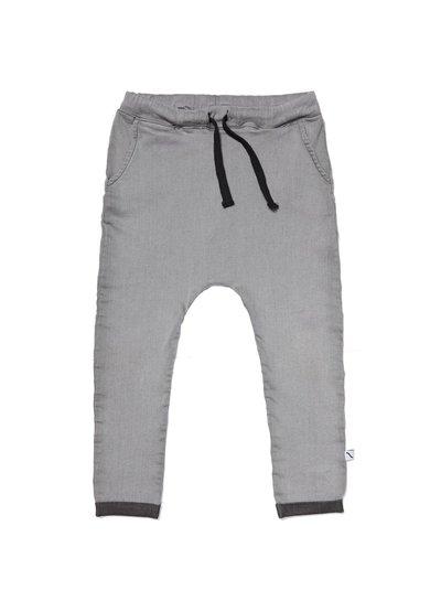 CarlijnQ Grey denim sweatpants met zakken