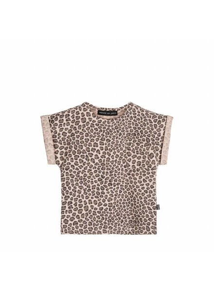 House of Jamie Batwing tee Leopard Caramel
