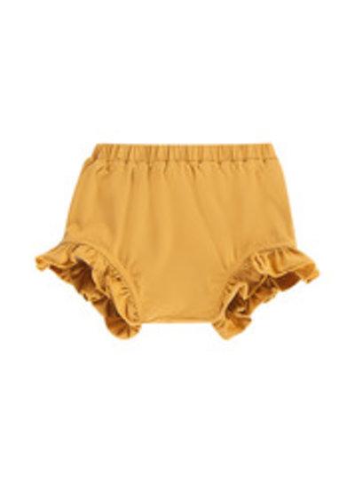 House of Jamie Ruffled shorts honey mustard