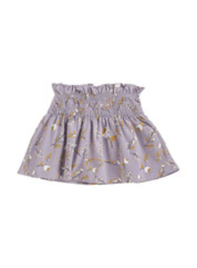 House of Jamie Smocked Skater Skirt - Floral Dusty Lilac