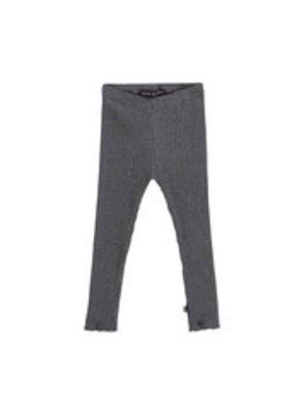 House of Jamie Rib Girls Legging - Granite