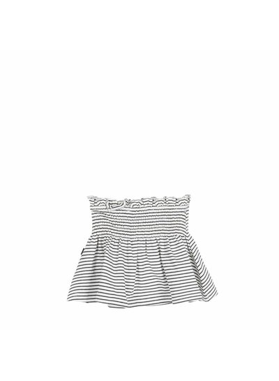 House of Jamie Smocked Skater Skirt - Little Stripes