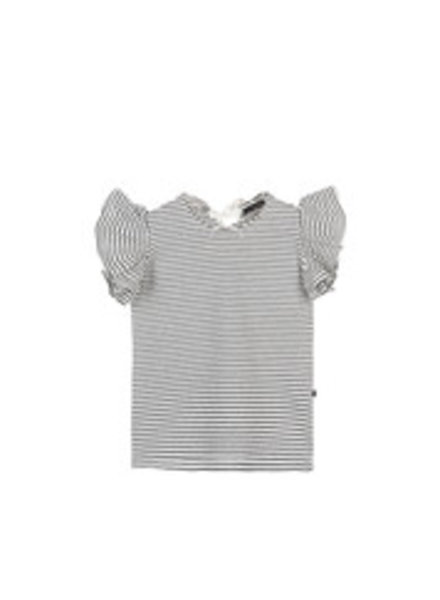 House of Jamie Ruffled Tee - Little Stripes