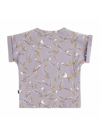 House of Jamie Batwing Tee - Floral Dusty Lilac