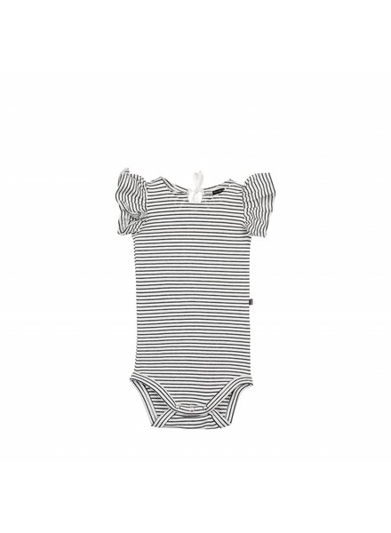 House of Jamie Ruffled Bodysuit - Little Stripes