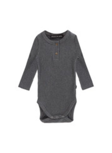 House of Jamie Rib Bodysuit - Granite