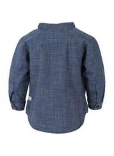 EnFant En Fant longsleeve blouse in denim blauw